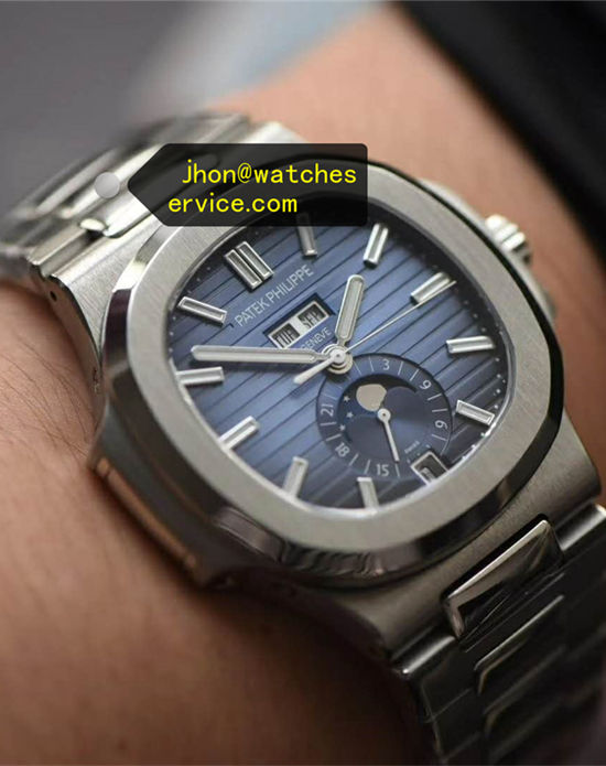 Blue Patek Philippe Nautilus 5726 Chronograph Moon Phase