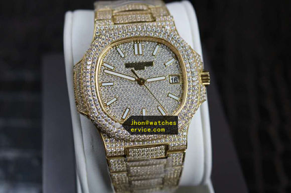 Gold Set Diamonds Patek Philippe Nautilus 5711/1R 40MM replica watch