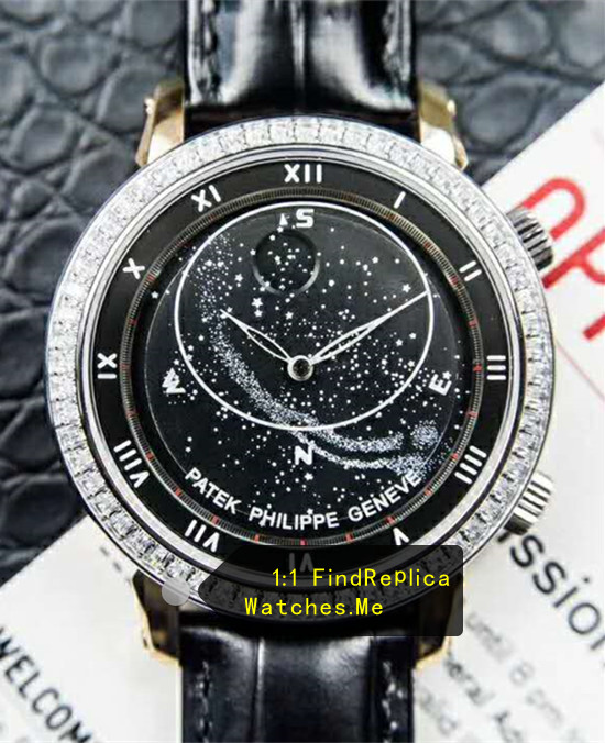 Patek Philippe Super Complex Timer 6104 Black Face Watch