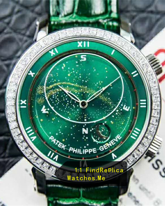 Patek Philippe Super Complex Timer 6104 Green Face Watch