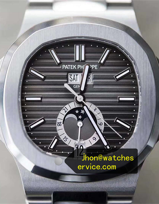 Gray Patek Philippe Nautilus 5726 Chronograph Moon Phase
