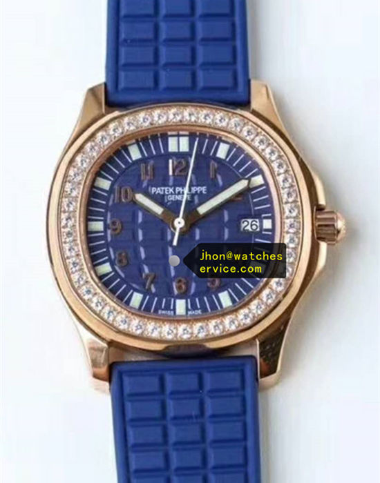 Lady Aquanaut 5067A-022 35.6MM Blue Rose Gold