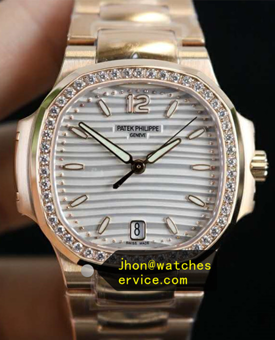 35.2MM Lady Patek Philippe Nautilus 7118/1200R-001 Rose Gold