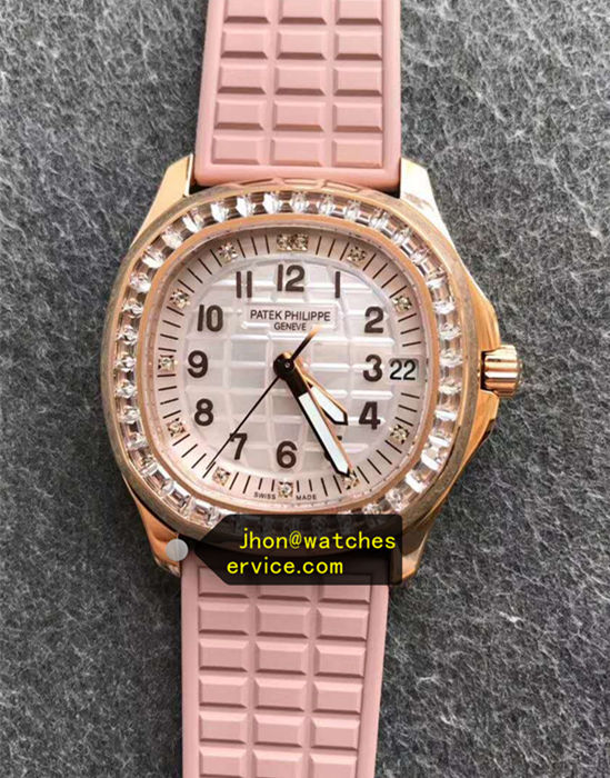 Lady Pink Mosang Diamonds Aquanaut 5067A-024 35.6MM