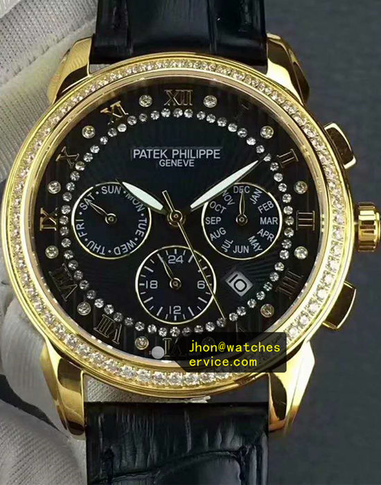 Patek Philippe Complication Polished Gold Diamonds Bezel