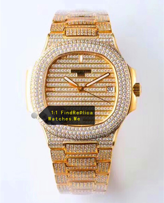 Patek Philippe Nautilus 5719 Gold Inlaid Diamond