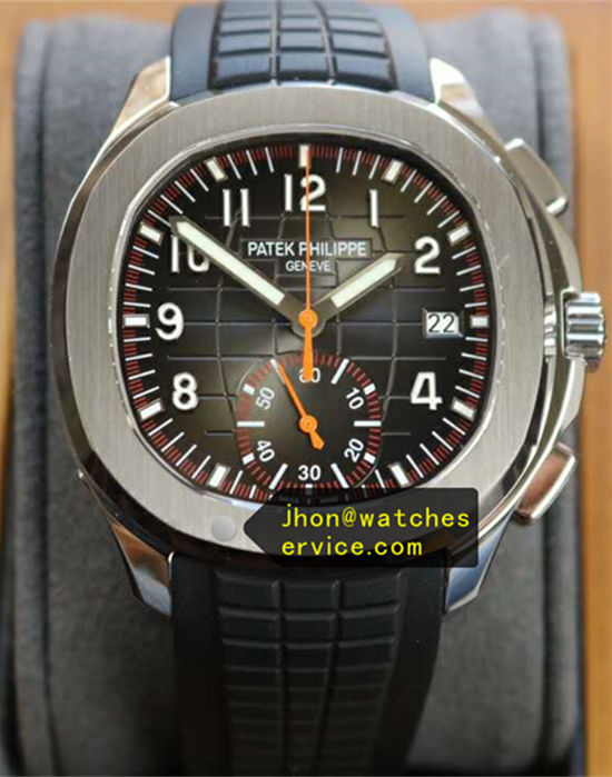 Black Patek Philippe Aquanaut 5968A Chronograph