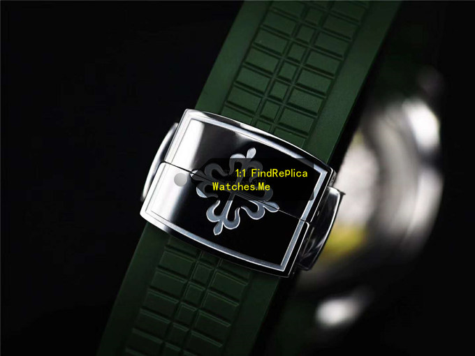Replica Patek Philippe Aquanaut 5167R Green Rubber Strap