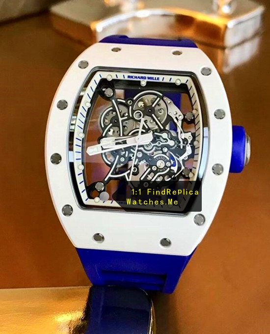 Richard Mille RM 055 Dark Blue Strap Crown Titanium Ceramics 02A