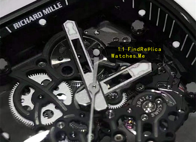 Replica Richard Mille RM 055 All White Face detail