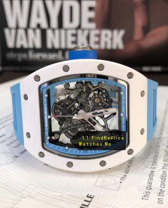 Replica Richard Mille RM 055 Lake Blue front face