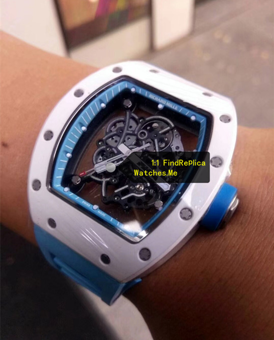Replica Richard Mille RM 055 Lake Blue on the Wrist