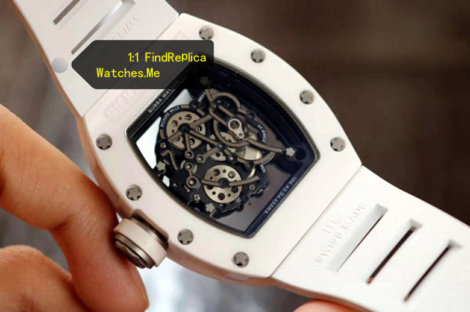 Replica Richard Mille RM 055 White Hollow Back