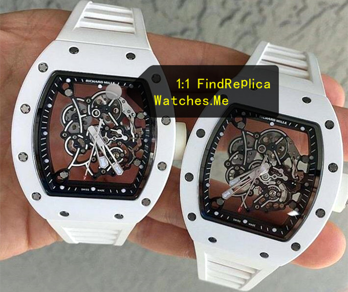 Replica Richard Mille RM 055 White Super Hollow