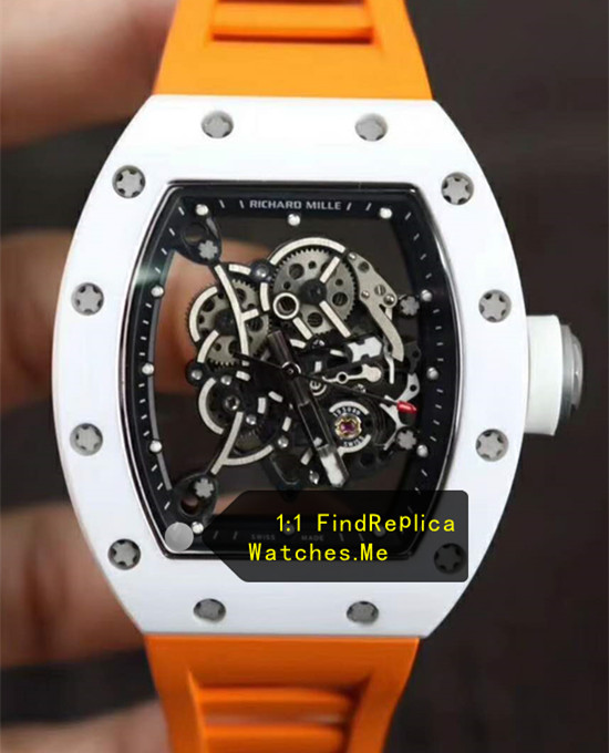 Richard Mille RM 055 With Orange Strap From Super KV Factory