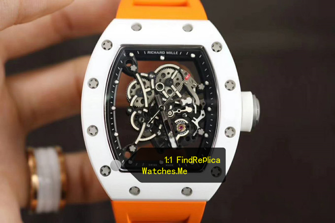 Replica Richard Mille RM 055 With Orange Strap From Super KV Factory