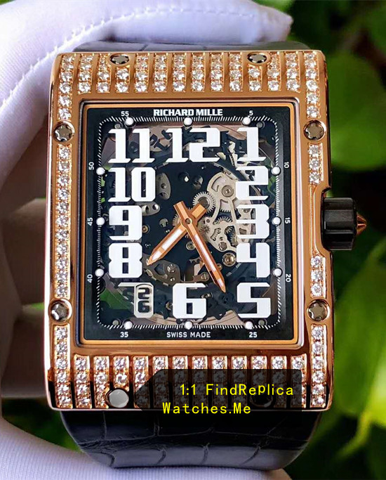 18K-Gold-Diamonds Richard Mille RM 016 Rectangle