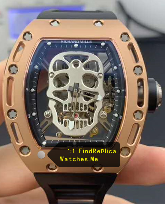 2019 Top RM 052 Skull True Tourbillon 18k-Gold Watch