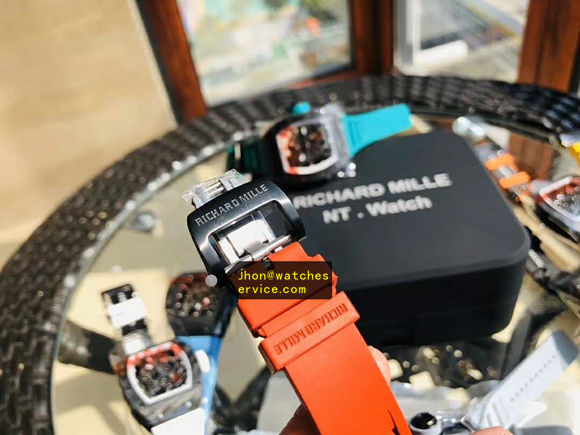 2020 Super KV Original Orange Red Wood Fiber Richard Mille RM 35-02 replica watch