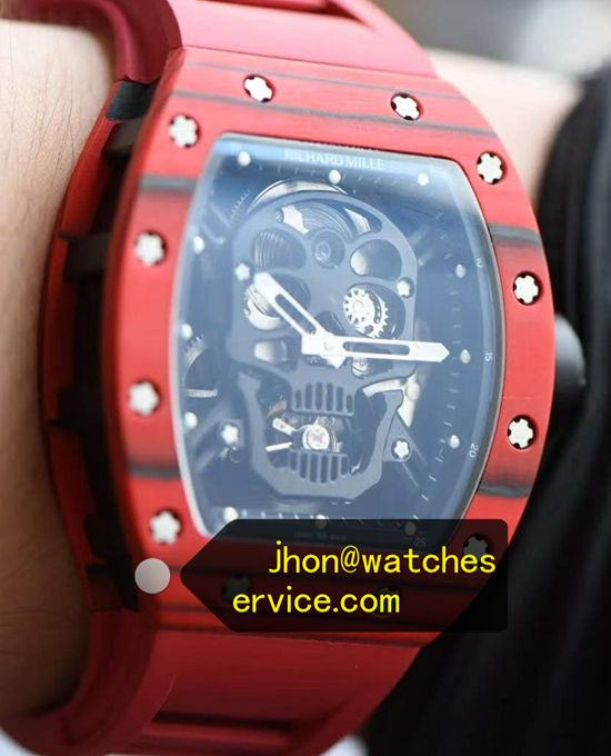 2020 True Tourbillon Red Richard Mille RM 52-01 Skull