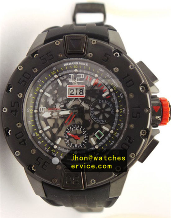 All Black Titanium Richard Mille RM 032 Round