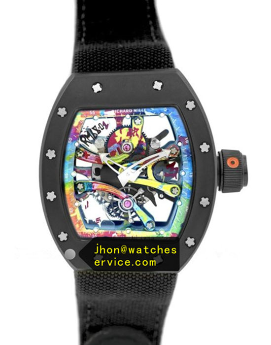 Black Nylon Strap Richard Mille RM 68-01 Ceramic