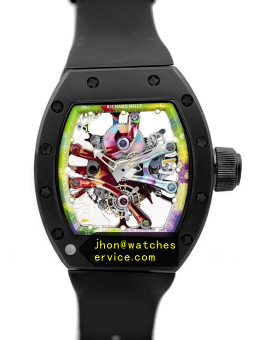 Black RM 68-01 Ceramic Bezel Graffiti