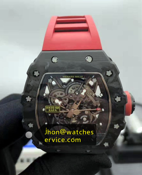 Original Carbon Fber RM 35-02 With Black Rubber Strap VR01