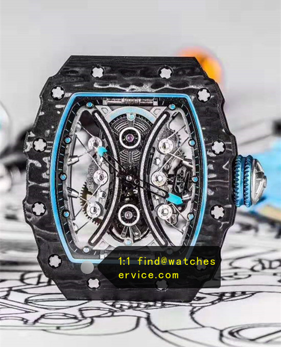 1:1 Carbon Fiber Richard Mille RM 53-01 True Tourbillon Watch