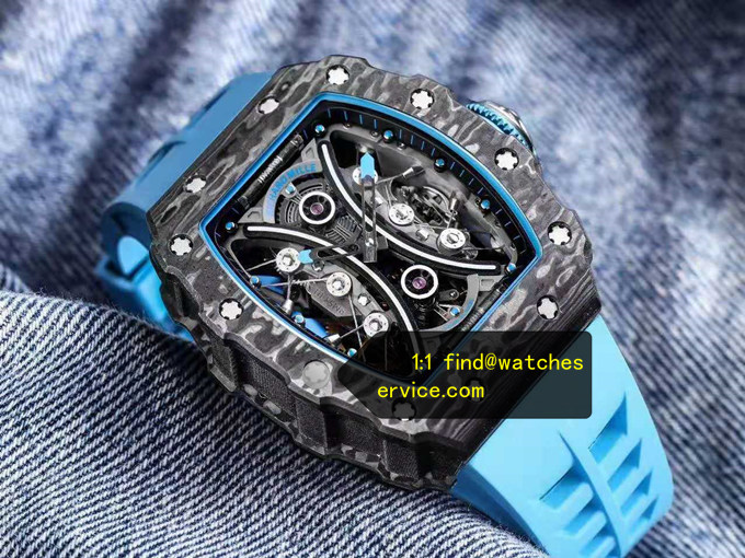 1:1 Carbon Fiber Fake RM 53-01 True Tourbillon Watch