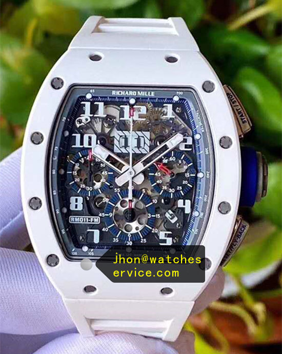 Dark Blue Richard Mille RM011-FM White Ceramic