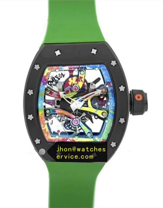 Dark Green RM 68-01 Ceramic Bezel Graffiti