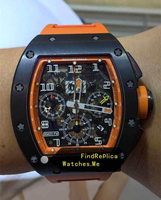 Richard Mille RM 011-FM Black Bezel With Orange Inner Frame