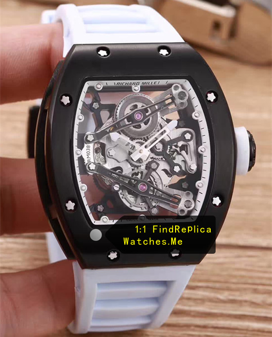 Richard Mille RM 038 Black Case White Rubber Strap JJ-Factory