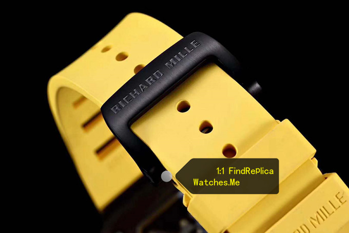 Fake RM 35-02 Carbon Fiber Yellow Rubber Strap