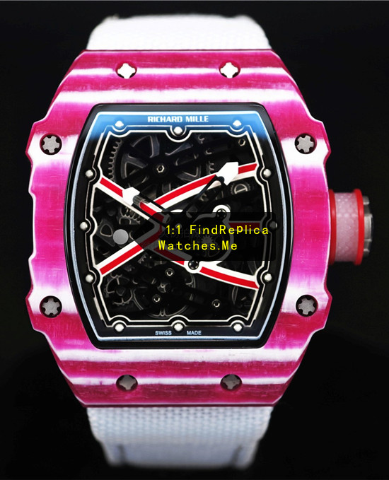 Fake RM 67-02 Purple Red Mutaz Essa Barshim Sports Watch