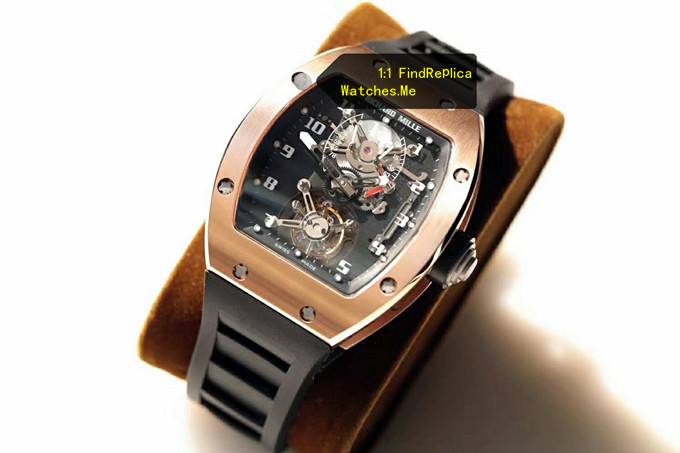 Fake Richard Mille RM 001 18k-Gold True Tourbillon