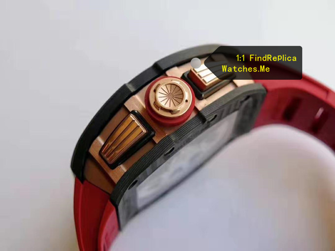 Fake Richard Mille RM 011 LOTUS F1 TEAM 18k rose gold side