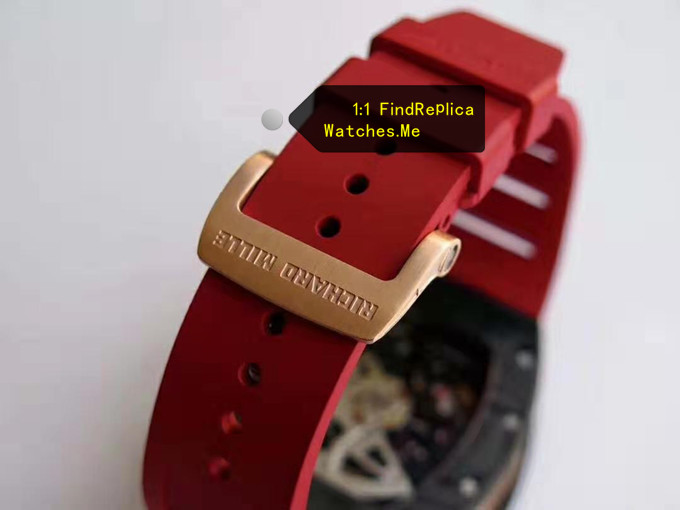 Fake Richard Mille RM 011 LOTUS F1 TEAM red rubber strap