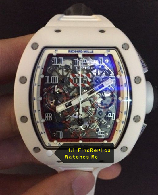 Richard Mille RM 011 White Angel With Color Face Chronograph