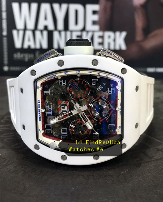 Fake Richard Mille RM 011 White Angel With Color Face Chronograph Watch