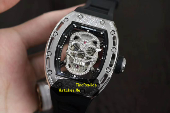 Replica Richard Mille RM 052 Diamonds Silver From VR Watches