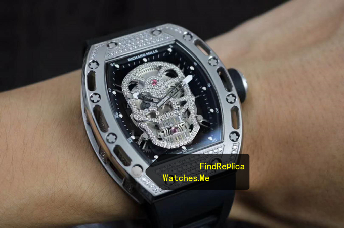 Replica Richard Mille RM 052 Diamonds on the Wrist