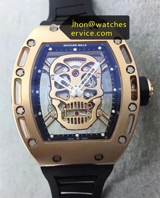 Cheap Richard Mille RM 052 SKULL Gold Watch