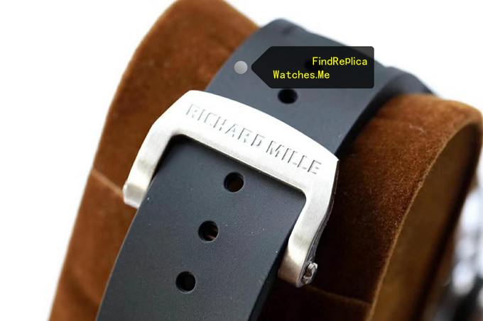 Replica Richard Mille RM 052 Titanium black rubber strap