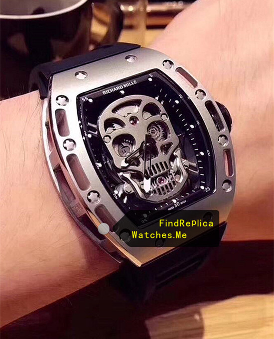 Replica Richard Mille RM 052 Titanium With Stainless Steel on the wrist