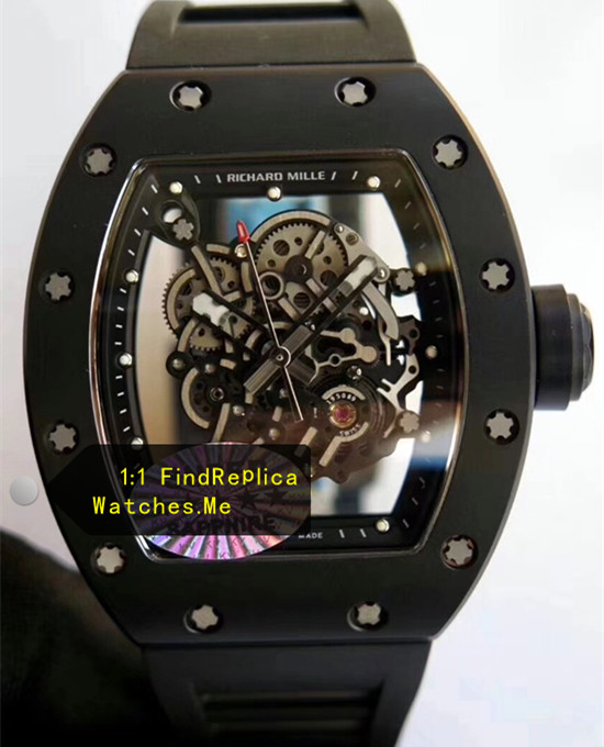 Richard Mille RM 055 Black Bezel With White Side Watch