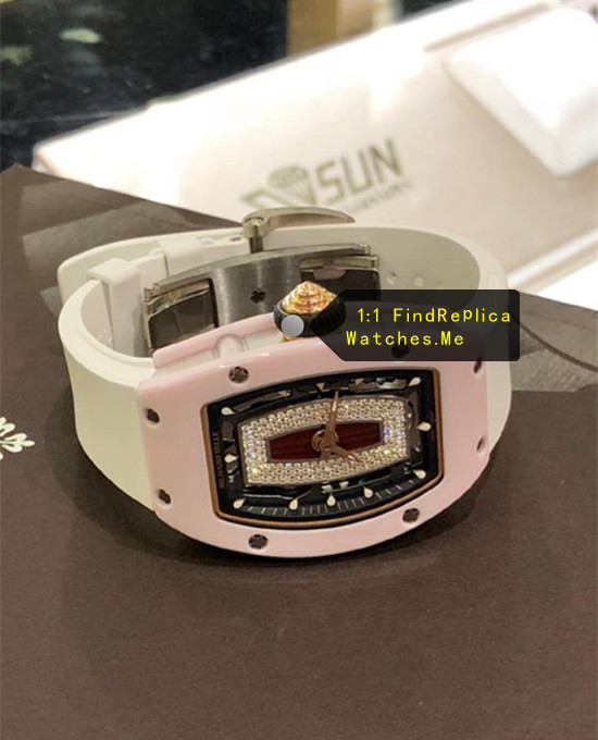 Replica Richard Mille RM 07-01 Ladies Pink Bezel With silver titanium HD Image