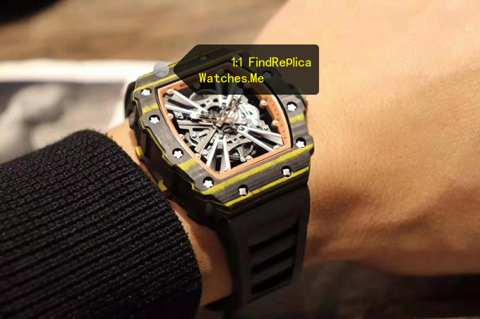 Fake Richard Mille RM 12-01 Gold Quartz Fiber Watch