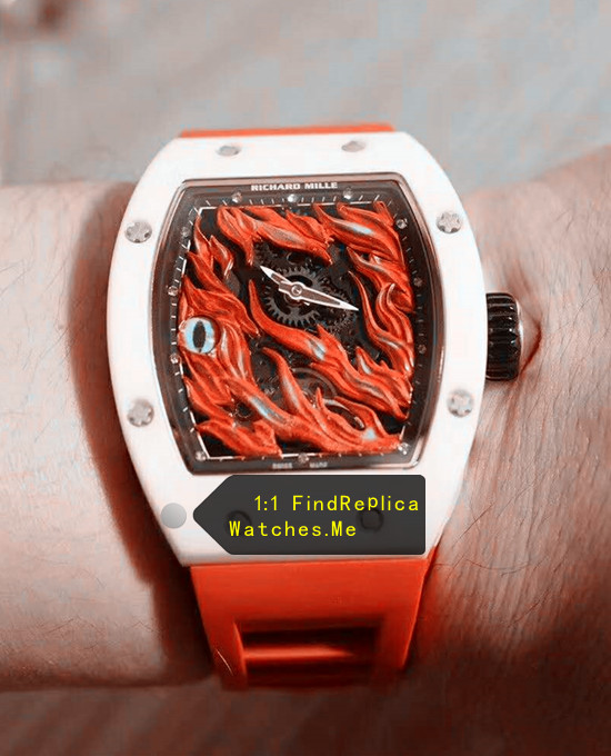 Richard Mille RM 26-02 Evil Eye White Ceramic Bezel With Red Strap
